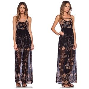 Free People Meadow Rue Jumpsuit in Midnight Combo